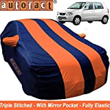 Autofact Car Body Cover For Maruti Alto Old Model (2000 To 2014) (Mirror Pocket ,Fabric ,Triple Stiched ,Fully Elastic ,Orange / Blue Color)