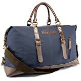 Rothvyn Weekender Travel Bag in Waxed Canvas and Microfiber Leather