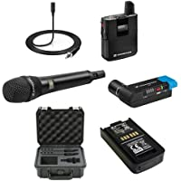 Sennheiser AVX Camera-Mountable Digital Wireless Handheld and Lavalier Set Bundle with SKB Waterproof Case and BA20 Recharging Battery Pack