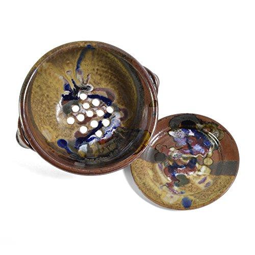 Berry Bowl Set - Larrabee Ceramics 2-Piece Berry Bowl Set, Brown/Multi