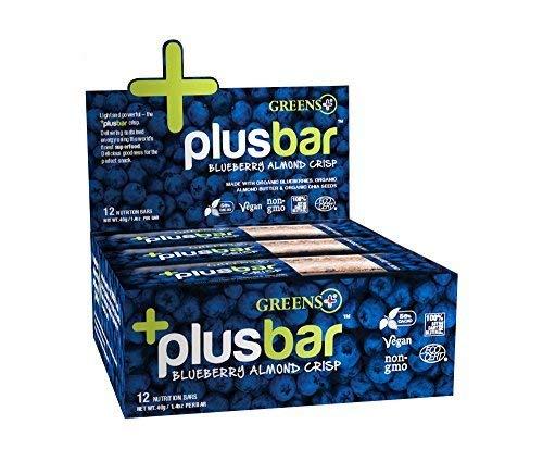 Greens+ Plusbar Blueberry Chia Crisp Box - 12 Bars