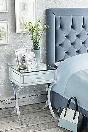 barcelona style furniture. myfurniture aurelia barcelona style mirrored u0026 chrome bedside table furniture n