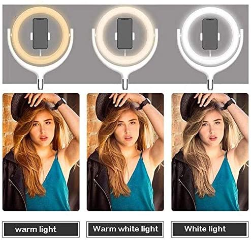 Color : C SUYIDAN Ring Light 12Inch LED Floor Ring Light Microphone Phone Holder Stepless Dimming Fill Light USB Power Supply Selfie Lamp Ringlight