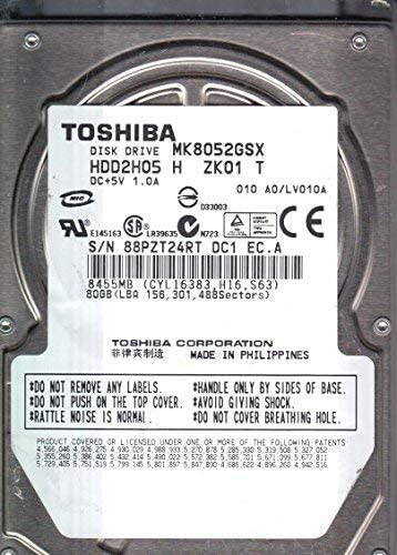 Toshiba MK8052GSX 80GB 2.5-Inch 5400RPM SATA OEM Notebook Hard Drive by Toshiba [並行輸入品]
