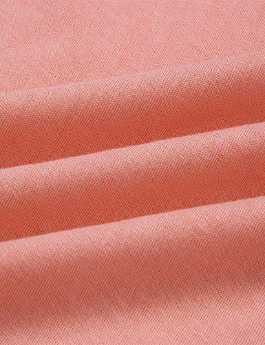 Travail Occasionnel Des Femmes Viewim Gaine Sans Manches Froncé Pellicule Moulante Crayon Mini T-shirt Robe De Rose