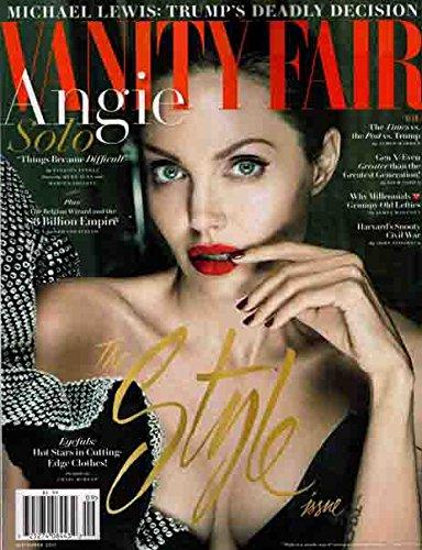 - Vanity Fair Magazine September, 2017 Angelina Jolie Cover