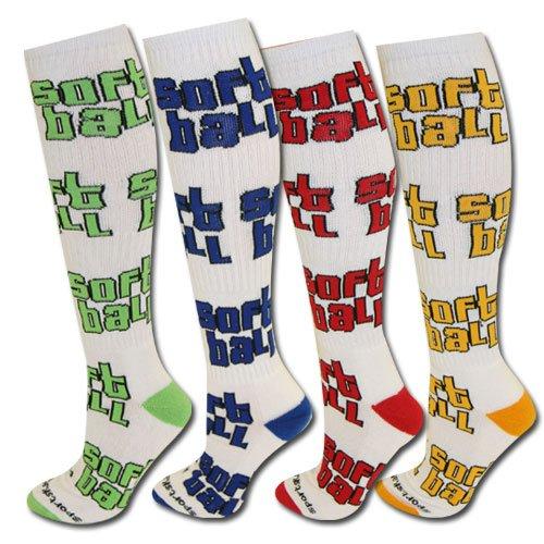 Word Up Softball Socks - new color Neon Lime