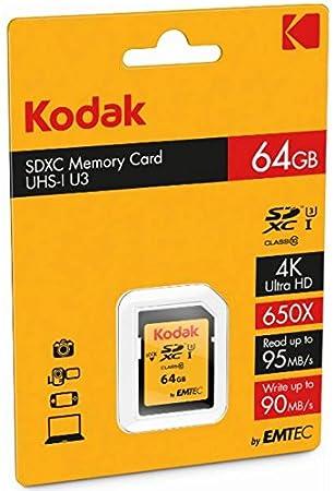 Kodak Ultra SDXC 64GB Class10 U3: Amazon.es: Electrónica