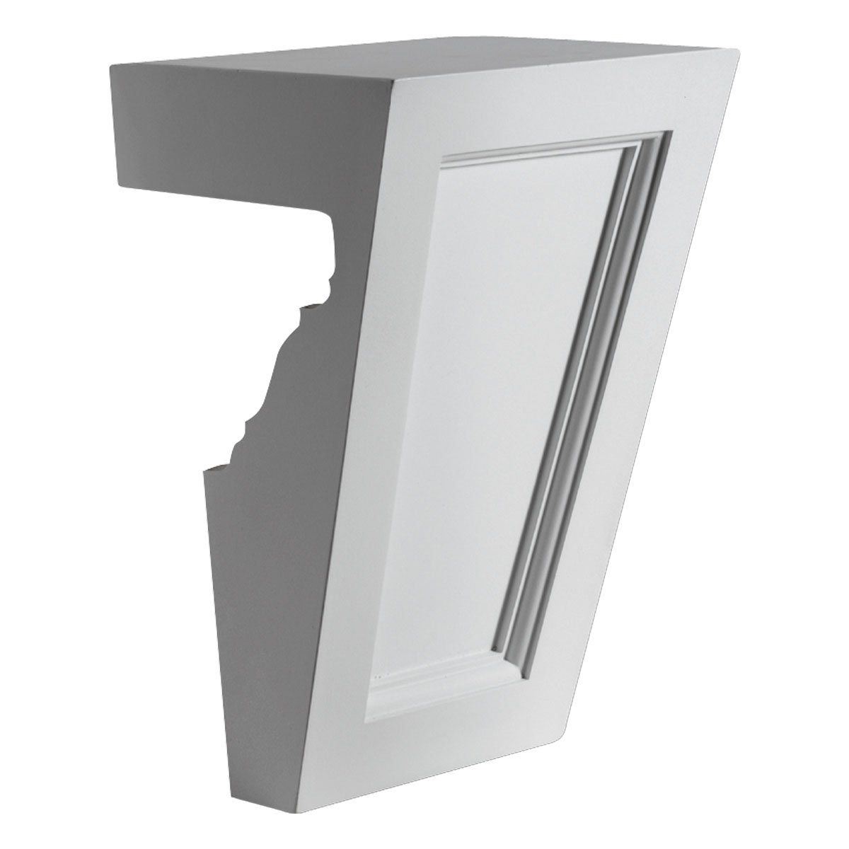 Fypon KP9M 8'' W x 11'' H x 6 1/4'' P Recessed Keystone for 9'' and 10'' Crosshead with Bottom Trim
