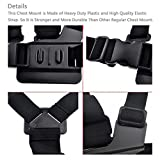 AxPower Adjustable Go Pro Chest Strap Mount Elastic Action Camera Body Belt Harness with J Hook for GoPro HD Hero 5 4 3+ 3 GoPro 6 7
