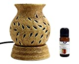 FnP's Ethnic Electric Aroma Diffuser Set | Round Shape Burner | Fragrance: Lemongrass