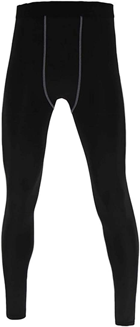 Xtansuo Youth Boys Compression Pants Basketball Tights Sports Leggings Athletic Base Layer for Soccer Training Running