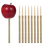 24ct Rhinestone Bling Bamboo Candy Apple Sticks 6