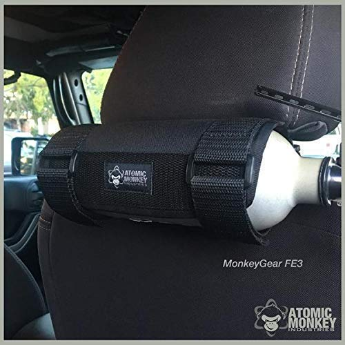 AMI Seat Back Fire Extinguisher Holder, Jeep Wrangler / Toyota Tacoma, by Atomic Monkey Industries ()