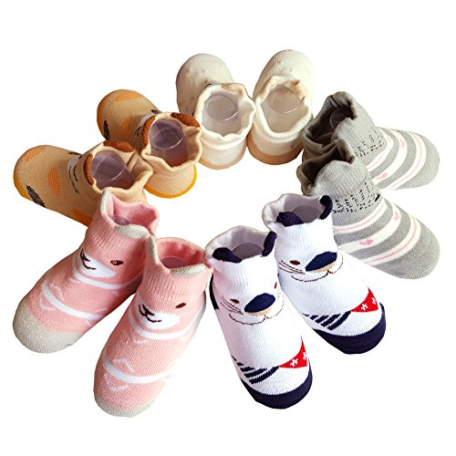 Baby 3D Anti-Slip Socks Set of 3 - 1