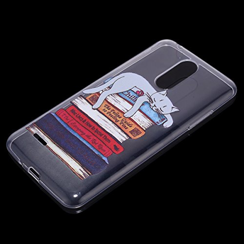 Funda LG K8 2017,Funda para LG K8 2017,Surakey de Silicona Transparente con Patrón de Diseño ,Simple Soft Silicone Case Cover Funda Protectora Carcasa ,Claro Caso Flexible Suave Caja Delgado Ligero Ca Gran gato perezoso