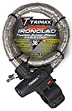 Trimax TG2236SX High Security Armor Plated Stainless Steel Locking Cable (36' Length x 22mm) with Quick Release Tubular Mounting Bracket