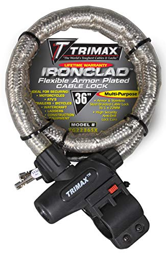 Trimax TG2236SX High Security Armor Plated Stainless Steel Locking Cable (36