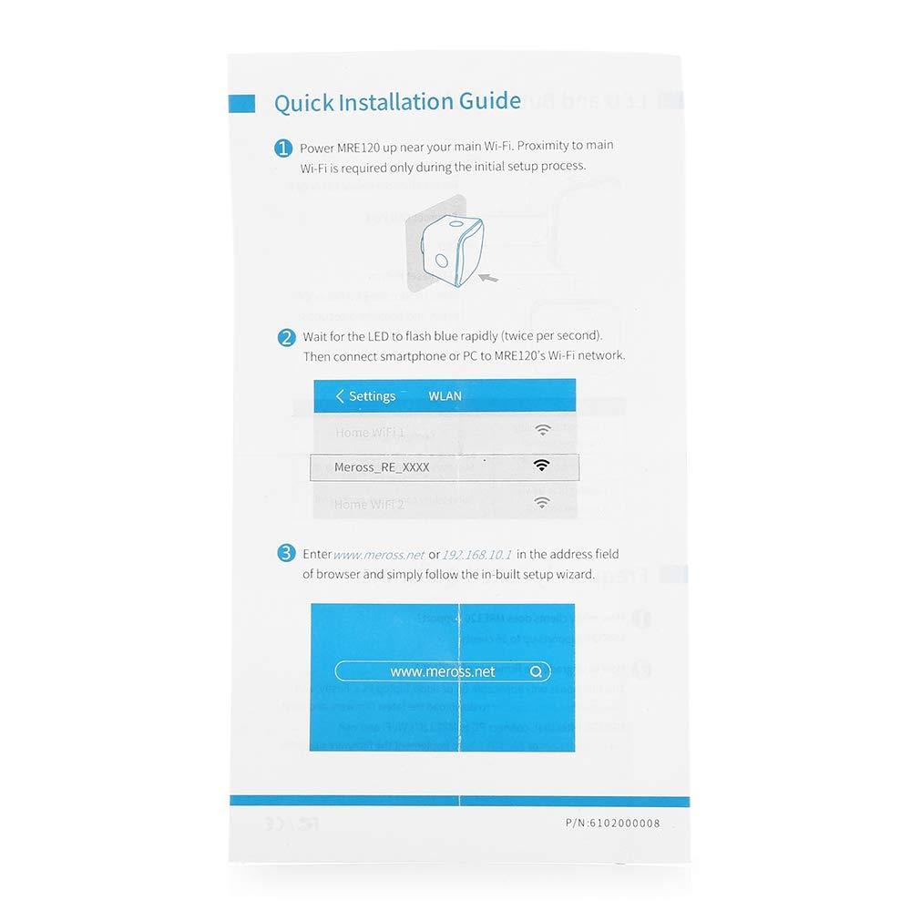 ZORBES Meross MRE120 Mini Wall Plug WiFi Range Extender
