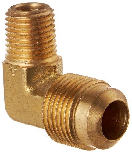 Eaton Weatherhead 49X8X4 Brass CA360 SAE 45 Degree Flare, 90 Degree Elbow, 1/4