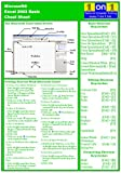 Microsoft Excel 2003 Basic Cheat Sheet, Chris Le Roy, 1921183187