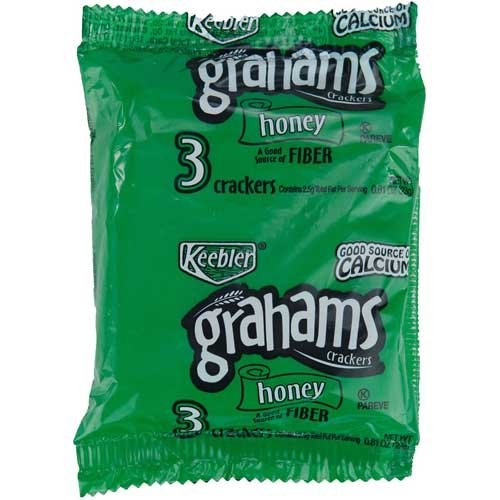 Keebler Honey Graham Cracker with Fiber, 0.81 Ounce -- 150 (Fresh Graham Cracker)
