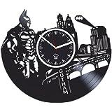 DC Comics, Gotham City, Batman Vinyl Wall Clock, Best Gift For Boyfriend, Vinyl Record Kovides, Valentines Day Gift For Boy, Movie, Batman Birthday Gift, Wall Clock Vintage, Arkham Knight