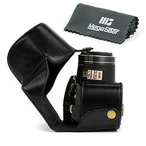 "MegaGear ""Ever Ready"" Protective Black Leather Camera Case, Bag for Nikon COOLPIX P520, Nikon COOLPIX P530, Nikon COOLPIX P610 Digital Camera"