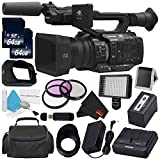 Panasonic AG-UX180 AG-UX180PJ 4K Premium Professional Camcorder + 64GB SDXC Class 10 Memory Card + Carrying Case + 67mm 3 Piece Filter Kit + Professional 160 LED Video Light Studio Series Bundle