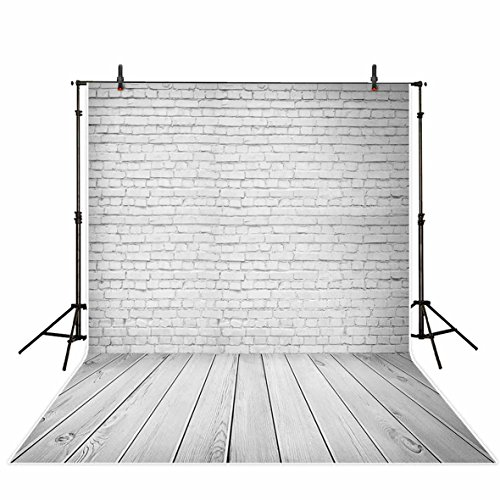 Funnytree 3x5ft Vinyl Photography Background Backdrops cure white brick wall board child baby shower photo studio prop photobooth - Board Background