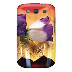 Durable Defender Case For Galaxy S3 Tpu Cover(crocus Perennial Flower)