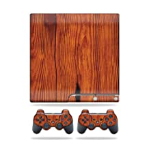 Mightyskins Protective Vinyl Skin Decal Cover for Sony Playstation 3 PS3 Slim skins + 2 Controller skins Sticker Knotty Wood
