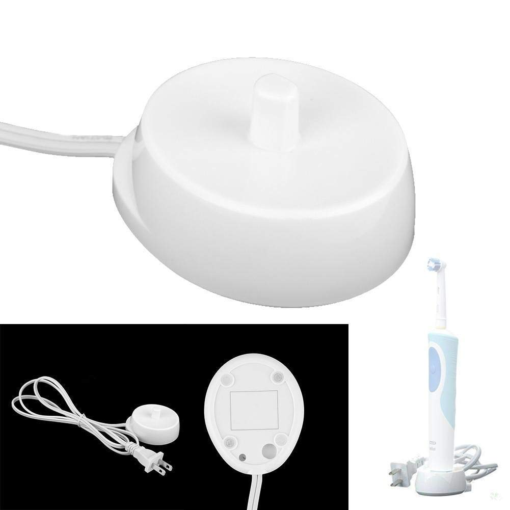 Diadia Electric Toothbrush Replacement Charger, Inductive Charging Base Model 3757 Portable Environmental ABS For Travel (White)