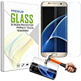 S7 Edge Screen Protector, Kissral® Samsung Galaxy S7 Edge Curved Edge Screen Protector [Full Screen Coverage], Ultra Slim HD Clear Protector Tempered Glass Screen for S7 Edge (Transparent)