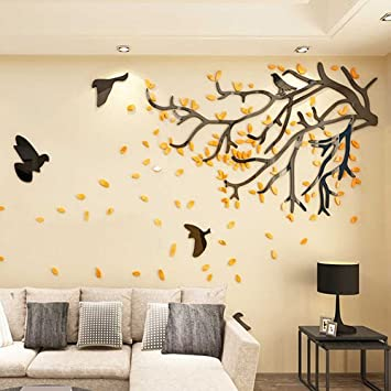 Ghaif Tree 3d Wall Art Living Room TV Background Wall Paper Self Adhesive And  Cozy
