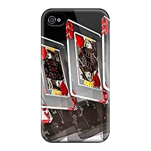 New Diy Design Playing With Hearts For Iphone 4/4s Cases Comfortable For Lovers And Friends For Christmas Gifts