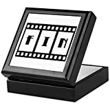 Keepsake Box Black FIN: Old Hollywood Movie Ending