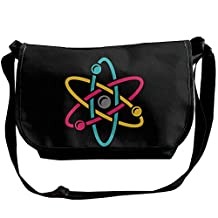 Atom Science Logo Casual Messenger School Shoulder Bag Travel Crossbody Bag Unisex Sling Bag