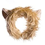 Life-like Lion Cat Ears Headband Accessory for Lion Cosplay, Lion Costume, Pretend Animal Play or Zoo Animal Party Costumes