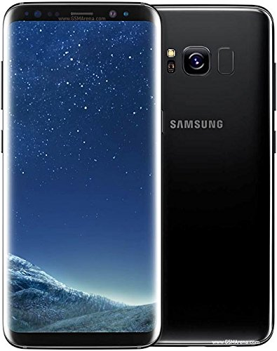 Samsung Galaxy S8 (G950u GSM only) 5.8in 64GB, Unlocked Smartphone for All GSM Carriers - Midnight Black (Renewed)