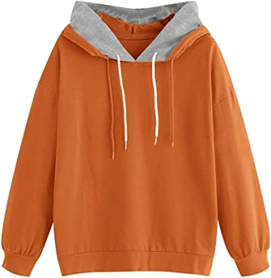 KYLEON Womens Long Sleeve Casual Solid Zipper Hoodies Pullover Hooded Sweatshirts Sweaters Coat Jacket Tops Blouse