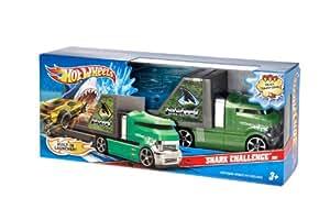 Hot Wheels - V2360 - Mini Car - Super Ruedas tiburón Criatura caliente - Verde