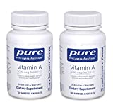 Pure Encapsulations Vitamin A 10,000 IU from Cod Liver Oil and Palmitate to Support Cellular Heath, Immune Function and Vision (120 Softgels) Pack of 2