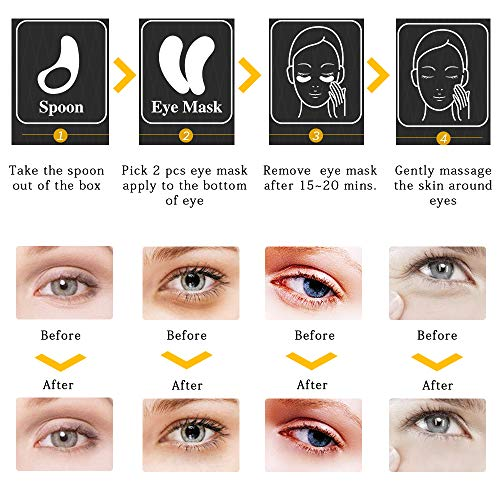Poit Under Eye Patches, Eye Gel,Eye Pads, Eye Treatment Mask, Reduces Wrinkles and Puffiness, Lightens Dark Circles, 60 PCS
