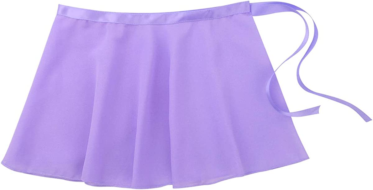 iiniim Girls Ballerina Waist Wrap Ballet Tutu Skirt Chiffon Mini Dress Dance Wear Costumes