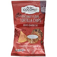 The Real Coconut Gluten Free Coconut Flour Tortilla Chips 5.5oz (Beach Barbecue)