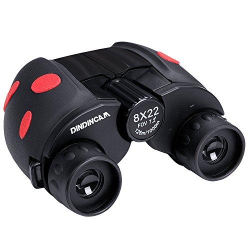 DINDINCAM Binoculars for Kids 8x22 Outdoor Folding Binoculars Wild and Clear View Spotting Telescope