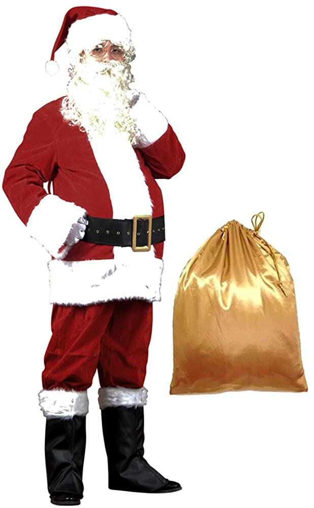 6f0faf331abea This package contains a 10 piece complete suit featuring  Red plush Santa  zipper coat