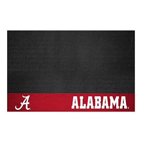 FANMATS NCAA University of Alabama Crimson Tide Vinyl Grill Mat