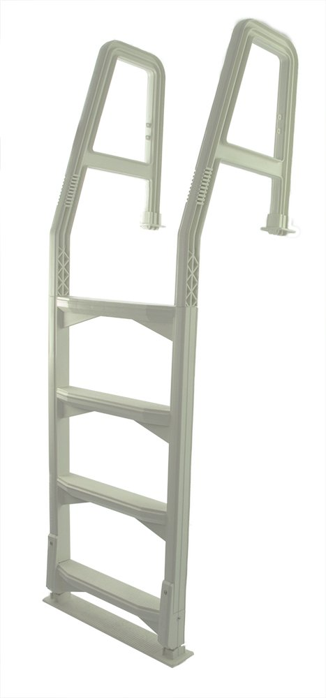 """Aqua Select Heavy Duty Resin-Based Pool Deck Ladder for Above Ground Pool   Fits 48"""" - 54"""" Height Decks   Enter and Exit Your Above Ground Swimming Pool with Confidence"""